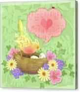 Yellow Bird's Love Song Canvas Print