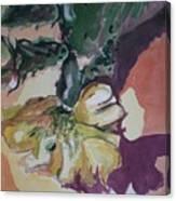 Yellow Blossom Purple Shadow Canvas Print