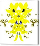 Yellow Blue Blossoms Canvas Print