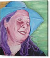 Yellow Blue Green Christine Canvas Print