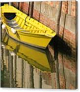 Yellow Boat In Venice Canvas Print