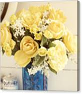 Yellow Bouquet Of Flowers Canvas Print