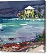 Yellow Bungalow Canvas Print