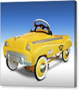 Yellow Cab Peddle Car Canvas Print