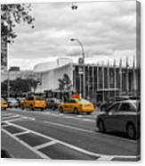 Yellow Cabs By The United Nations, New York 2 Canvas Print