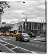 Yellow Cabs By The United Nations, New York 3 Canvas Print
