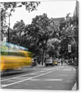 Yellow Cabs In Central Park, New York 4 Canvas Print