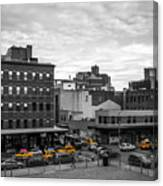 Yellow Cabs In Chelsea, New York 2 Canvas Print