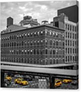 Yellow Cabs In Chelsea, New York 3 Canvas Print