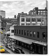 Yellow Cabs In Chelsea, New York 5 Canvas Print