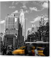 Yellow Cabs In Midtown Manhattan, New York Canvas Print