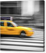 Yellow Cabs In New York 6 Canvas Print