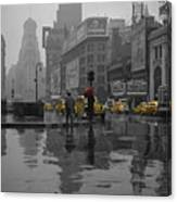Yellow Cabs New York Canvas Print