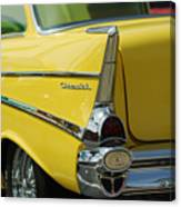 Yellow Chevrolet Tail Fin Canvas Print