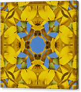 Yellow Coneflower Kaleidoscope Canvas Print