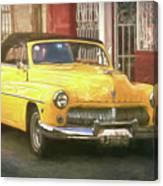 Yellow Convertible Mercury Canvas Print