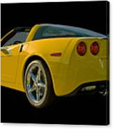 Yellow Corvette Canvas Print