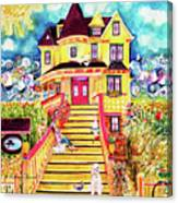 Yellow Dog House Canvas Print