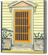 Yellow Door In Panama Canvas Print
