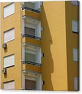 Yellow Dwelling Canvas Print