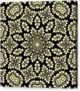 Yellow Floral Ornament Design Canvas Print