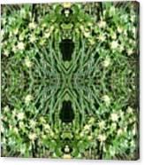 Yellow Flower Mandala 1 Canvas Print