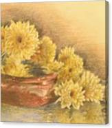 Yellow Flowers With Still Life Canvas Print