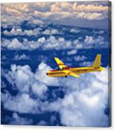 Yellow Glider Canvas Print