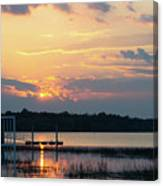 Yellow Gold Sunset Tapestry Canvas Print