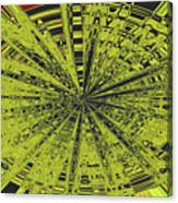 Yellow Green Black Abstract Canvas Print