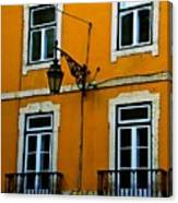 Yellow Italian Building Canvas Print