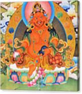 Yellow Jambhala 21 Canvas Print