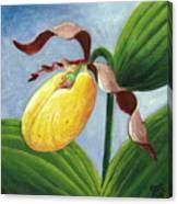 Yellow Lady Canvas Print