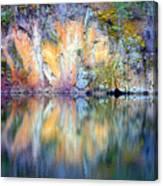 Yellow Lake Abstract Canvas Print