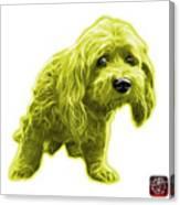 Yellow Lhasa Apso Pop Art - 5331 - Wb Canvas Print