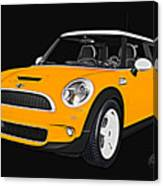 Yellow Mini  Canvas Print