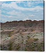 Yellow Mounds Panorama At Badlands South Dakota Canvas Print