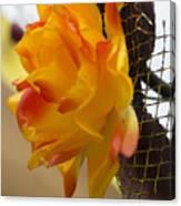 Yellow-orange Flower Canvas Print