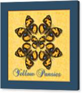 Yellow Pansy Butterfly Wheel Canvas Print