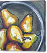 Yellow Pears Canvas Print