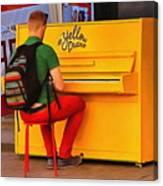 Yellow Piano Canvas Print