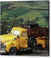 Yellow Pick-up Truck Canvas Print