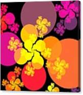 Yellow Pink Red Orbs Canvas Print