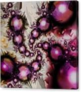 Yellow Pink Spiral Art Canvas Print