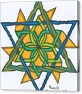 Yellow Pinnwheel Canvas Print