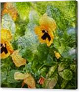 Yellow Pretty Little Flowers Canvas Print