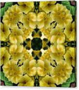 Yellow Primrose Kaleidoscope Canvas Print