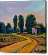 Yellow Road Canvas Print
