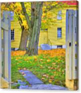 Yellow Shaker House Gate Canvas Print