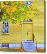 Yellow Shaker House Canvas Print